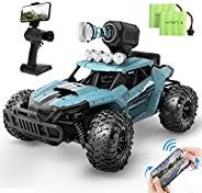 DEERC RC Cars DE36W Remote Control Car with 720P HD FPV Camera, 1/16 Scale Off-Road Remote Control Truck, High
