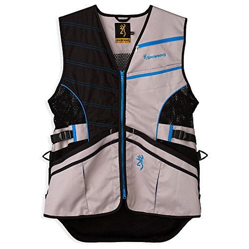 Browning Mens Vest - Browning Ace Shooting Vest, Blue, X-Large