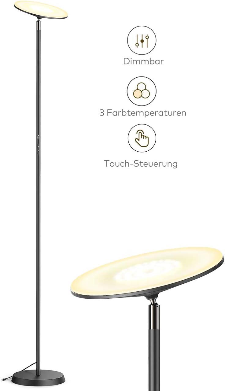 Stehlampe TaoTronics Deckenfluter LED Dimmbar 30W Stehleuchte für Wohnzimmer Schlafzimmer - LED Deckenfluter