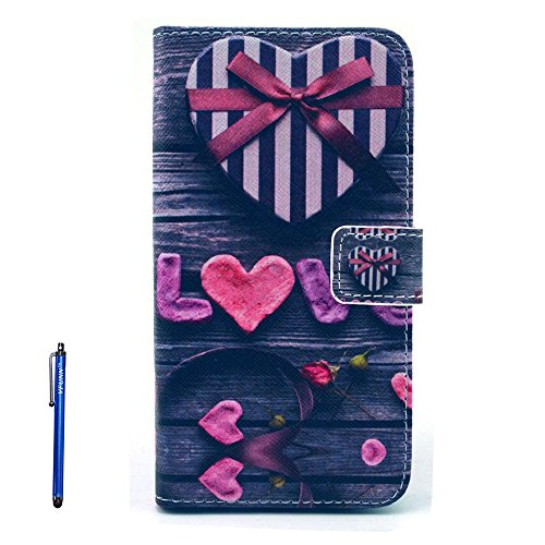 S6 Edge Case, Galaxy S6 Edge Leather Case,Vfunn Fashionable Flip Leather Wallet Case Cover Pouch for Samsung Galaxy S6 Edge with 1 Stylus Pen 1 Screen Protector Stand Function Credit Card Slot (S6 Edge Leather Case) (Gift)