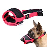 Nylon Dog Muzzle - Anti-Biting Barking Secure Fit Dog Muzzle - Mesh Breathable