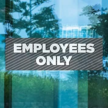 Employees Only CGSignLab 36x12 Stripes Gray Window Cling 5-Pack