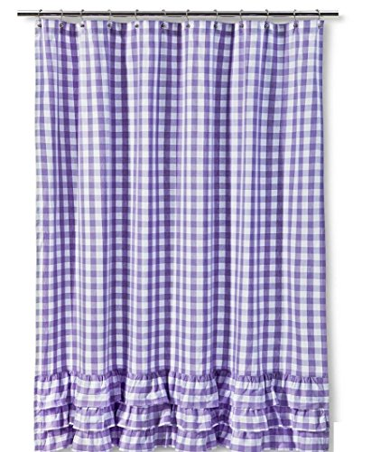 Target Target Classic Gingham 72 X 72 Shower Curtain Lavendar White Price