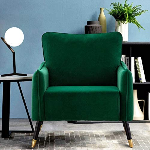 Altrobene Velvet Accent Chair