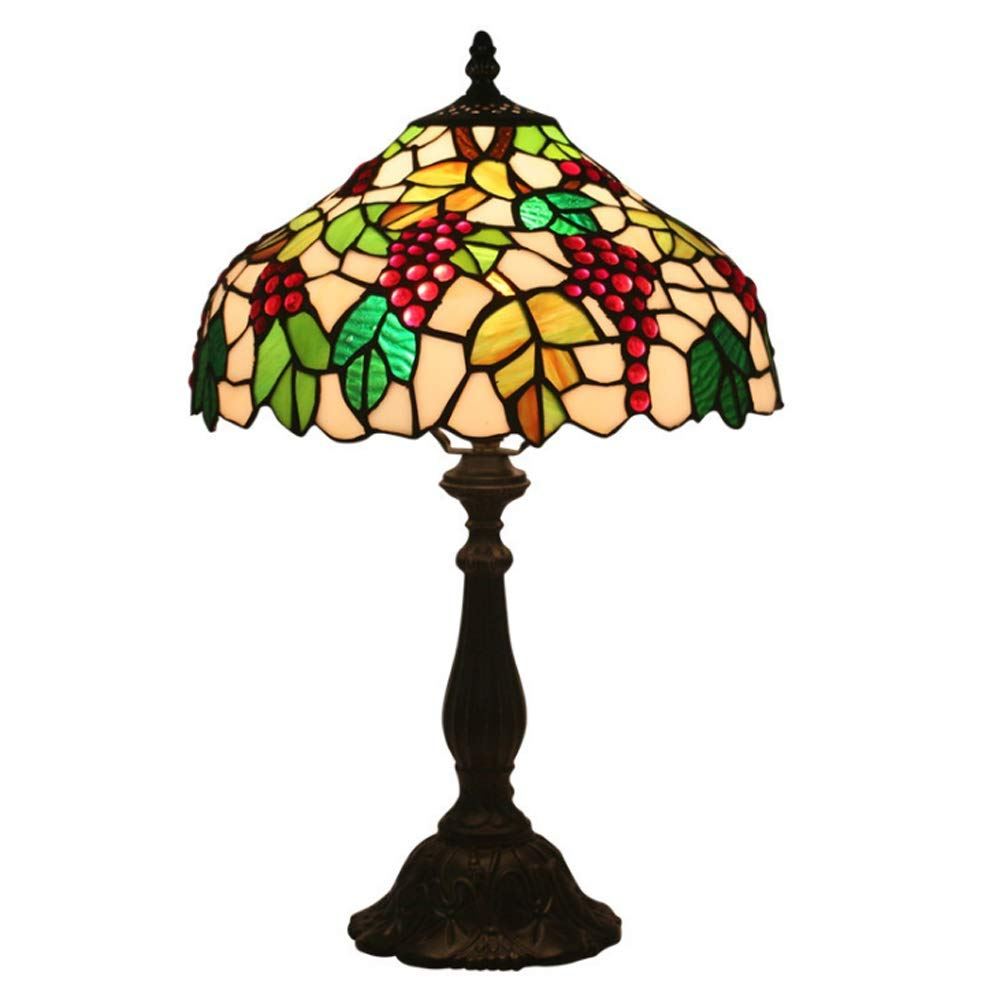 Wlirdo Retro Antique Desk Light Bedside Art Table Lamps Stained Glass Simple and Light Luxury Creative Atmosphere Light Home Decoration by Wlirdo