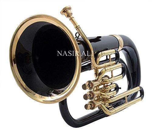 Nasir Ali Eu-3 Euphonium 3 Valve B-flat Black by NASIR ALI