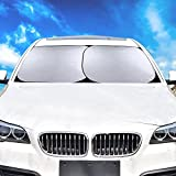 Windscreen Sunshade for Car SUV Truck (28 X 30.9 Inch), 2 Pcs Foldable Sun Shades, UV Protection Keep Your Vehicle Cool