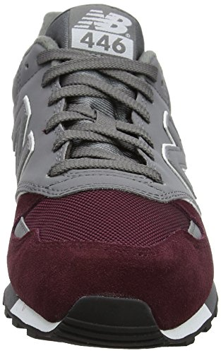 New Balance U446v1, Sneaker Unisex – Adulto Rosso (Burgundy)
