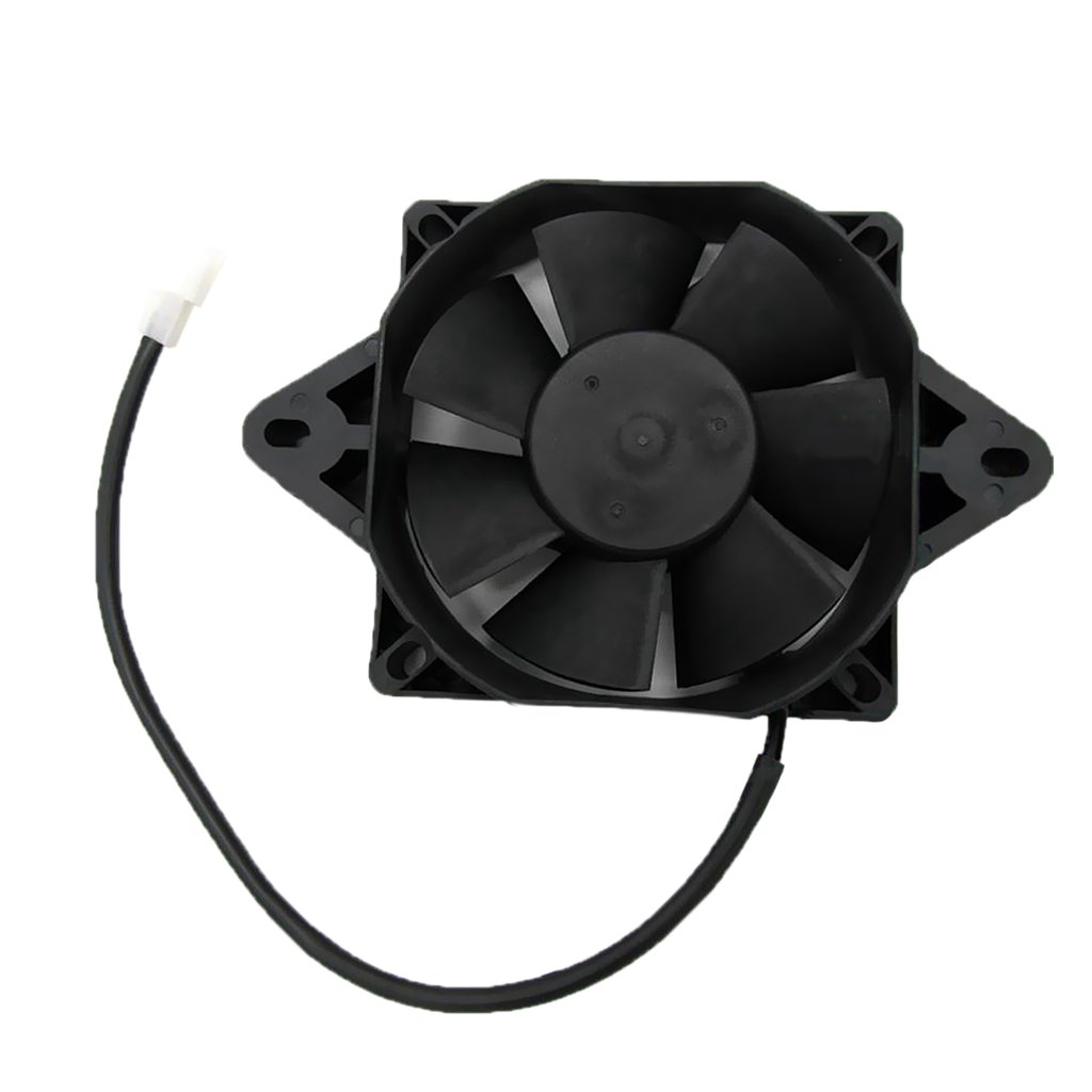 MonkeyJack 12 Volt Radiator Thermo Electric Cooling Fan for 150cc 250cc Dirt Bike ATV