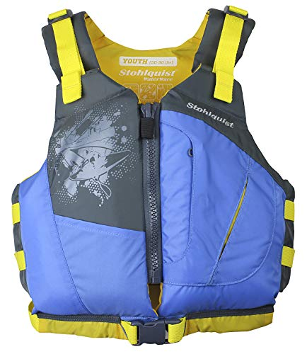 Stohlquist Youth Escape PFD Life Jackets, Retro Blue