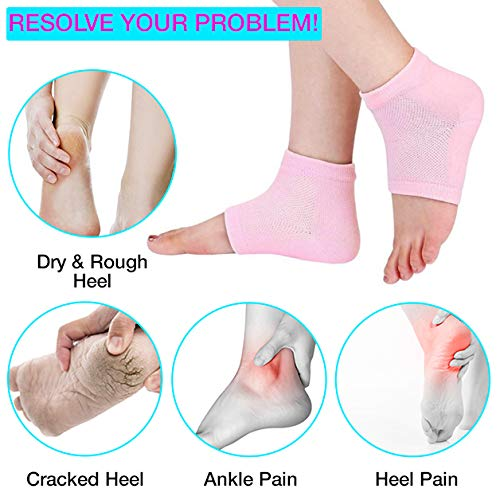 Nado Care Moisturizing Socks Lotion Gel for Dry Cracked Heels 4 Pack Spa Gel Socks Humectant