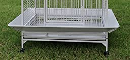New Large Open Dome Play Top Bird Parrot Wrought Iron Cage, Include Metal Seed Guard Solid Metal Feeder Nest Doors