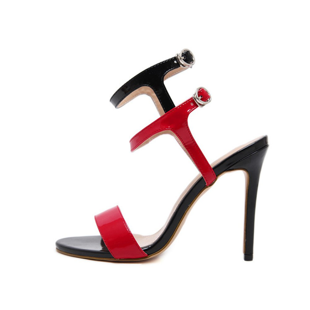 Frauen Frauen Frauen Schnalle Sexy Sandalen Stiletto Ausgeschnitten High Heels Damen Peep Toe Schuhe Prom Riemchen Pumps fc0ce1