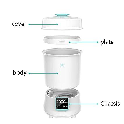 DLT Vaporizador de biberones Esterilizador y secador de Vapor eléctrico, Filtro HEPA Pipas de Vapor