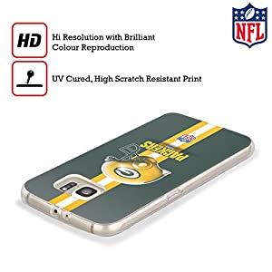 Official NFL Helmet Green Bay Packers Logo Soft Gel Case for Samsung Galaxy S8 by Head Case Designs
