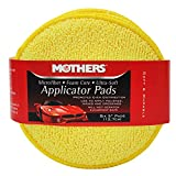 Mothers 6pk 156801 Yellow Microfiber Ultra-Soft Applicator (Six 5' Pads), 6 Pack