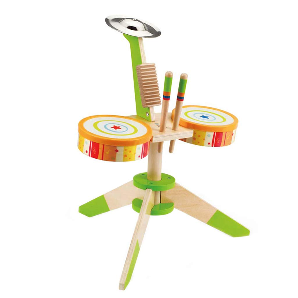 子供のドラムの木製のおもちゃ1-3-6歳の初心者楽器少年少女 DUWEN B07KXG64D5