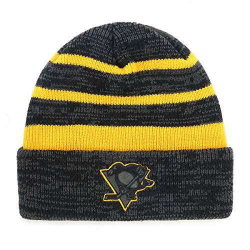 OTS NHL Pittsburgh Penguins Male Line Cuff Knit Cap, Black, One Size