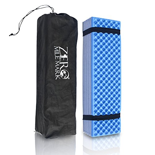 Zero Mile Mark Compact Foam Camping Mat Sleeping Pad Mattress for Tent – Lightweight and Damp Resistant – Includes Packing Bag for Hiking, Outdoor Camping and Mountaineering by Zero Mile Mark