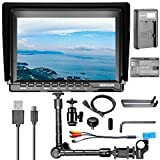 Neewer NW759(C) 7 inches Camera Field Monitor Kit:1280x800 IPS Screen Monitor,11.8-inch Articulating Magic Arm,Micro USB Charger and LP-E6 Replacement Battery for Nikon Sony Canon Olympus DSLR Cameras