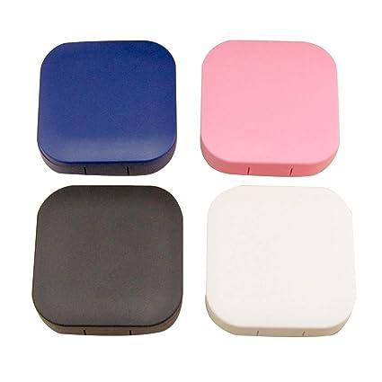 Estuche para lentes de contacto, 4 unidades, mini, colorido ...