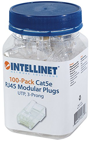 Intellinet 3 Prong Cat5e Modular Plugs ()