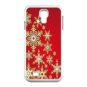 Samsung Galaxy S4 9500 Cell Phone Case White_Golden Snowflakes Kekeh