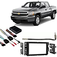 Fits Chevy Silverado Pickup 2007-2011 Double DIN Harness Radio Dash Kit