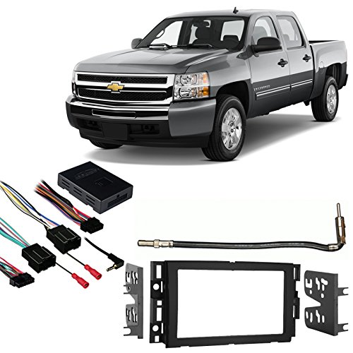Compatible with Chevy Silverado Pickup 2007-2013 Double DIN Stereo Harness Radio Dash Kit by Harmony Audio