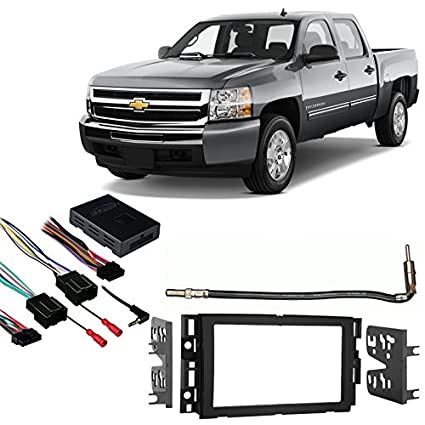 Compatible with Chevy Silverado Pickup 2007-2013 Double DIN Stereo on