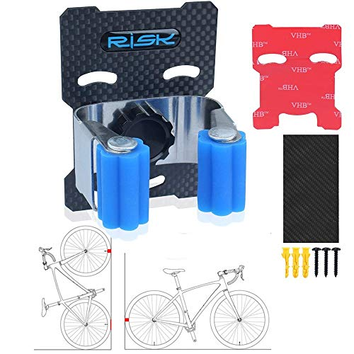 AIKESIWAY Bike Clip, Bike Storage, Bike Wall Mount, Bike Stand Rack Hanger System for Garage Portable Indoor Outdoor Punch-Free Vertical Easy to Install and Tire Rack for Road Mountain Bikes (1)
