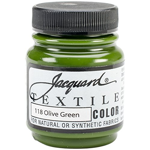 Jacquard Products Textile Color Fabric Paint 2.25-Ounce, Olive Green (Best Olive Green Paint Colors)