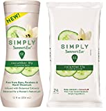 Summer's Eve Cucumber Lily, Cleansing Combo Pack, 1-12-Ounce Cleansing Wash, Plus 1-24 Count Cloths