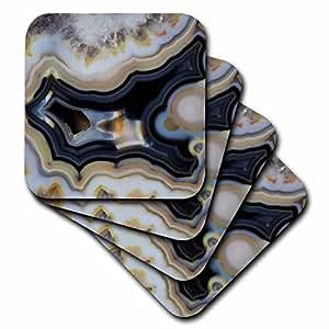 Danita Delimont - Rocks - Macro of Banded Agate, Quartzsite, gray - set of 8 Coasters - Soft (cst_229649_2)