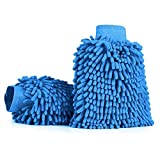 #5: 2-Pack Premium Car Wash Mitt with Double Sided, Extra Large Size, Highest Density Chenille Microfiber, Dry-wet Dual Purpose, Ultra Soft, Super Absorbent, Lint Free, Scratch Free