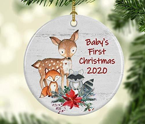 Woodlands Christmas 2020 Amazon.com: Baby's First Christmas 2020 Ornament   Woodland
