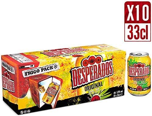 Desperados Original Biere Aromatisee Tequila 5 9 Boites Fridge Pack De 10 X 33 Cl Amazon Fr Epicerie