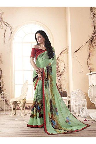 Da Facioun Indian Sarees For Women Wedding Designer Party Wear Traditional Sari. Da Facioun Saris Indiens Pour Les Femmes Portent Partie Concepteur De Mariage Sari Traditionnel. Blue 5 Bleu 5