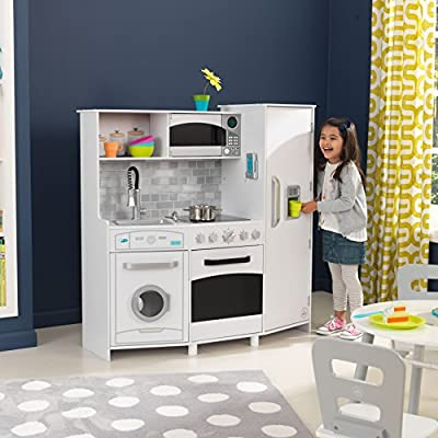 Large Play Kitchen with Lights & Sounds - White: Toys & Games