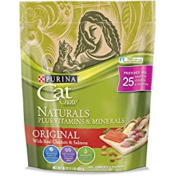 Purina Cat Chow Natural Dry Cat Food; Naturals Original - (6) 16 oz. Pouches
