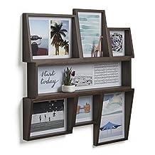 Umbra Edge 7-Opening Collage Wall Frame, Aged Walnut