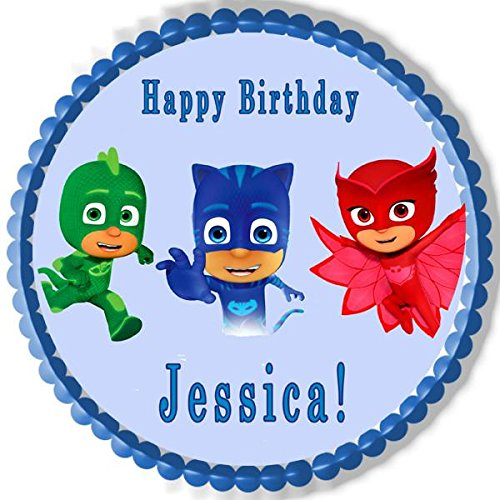Amazon.com: PJ MASKS (3) - Edible Cake Topper - 7.5