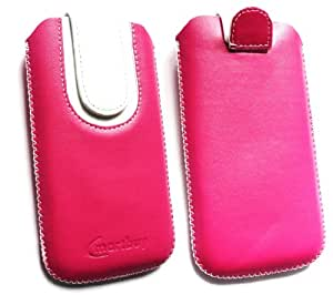 Emartbuy® Hot Rosa / Blanco Premium Cuero PU Funda Carcasa Case Tipo Bolsa ( Size 3XL ) con Mecanismo de Pestaña para Estirar apto para Huawei Y3 U12