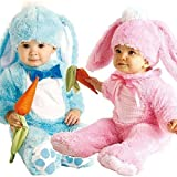 Baby Boys Girls Pink or Blue Easter Bunny Rabbit Halloween Fancy Dress Costume Outfit (12-18 months, Pink)