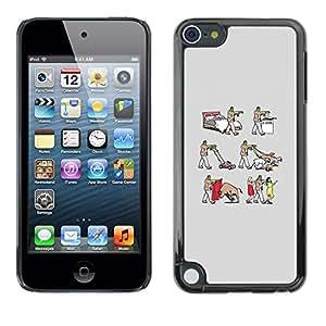 Stuss Case / Funda Carcasa protectora - Frankenwalk - Funny - Apple iPod Touch 5