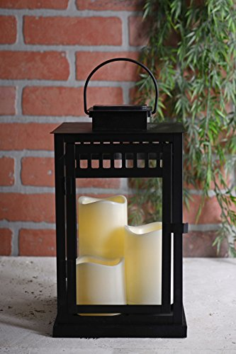 Solar Lantern with 3 Flameless Candles by SOC