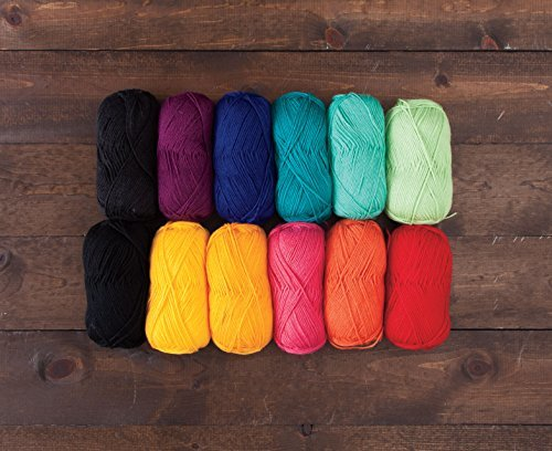 Knit Picks Hue Shift Afghan Complete Knitting Project Kit (Rainbow) by KnitPicks (Image #3)