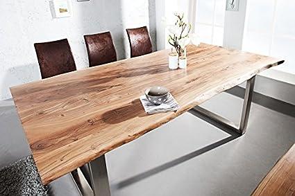 Tavoli Con Tronchi Di Legno.Dunord Tavolo Da Pranzo Solid 180 Cm In Legno Massiccio Di
