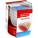 Rubbermaid TakeAlongs 2 Cup Twist & Seal Food Storage Container, 3 Pack