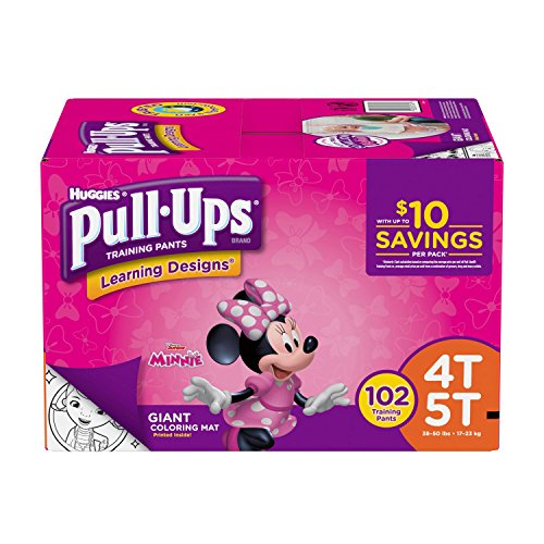 Huggies Pull-ups Traning Pants for Girls (Size XL, 4T - 5T, 102 ct.) by HUGGIES